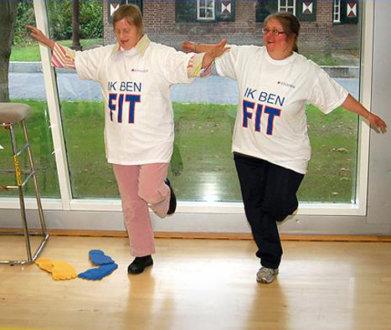 Verstandelijk Gehandicapten Doen Fitness