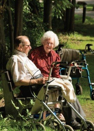Oudere Gehandicapte Met Partner