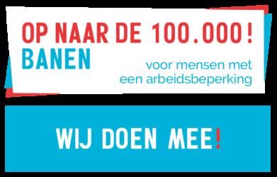Banner 100.000 Banen