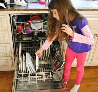 Kind Bij Afwasmachine
